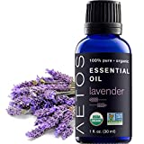 Aetos Organic Lavender Oil, USDA Certified Organic Essential Oils, Non GMO, 100% Pure, Natural, Therapeutic Grade Essential Oil, Best Aromatherapy Scented-Oils for Home, Office, Personal Use – 1 Oz