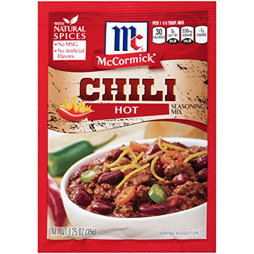 McCormick Hot Chili Seasoning Mix, 1.25 oz (Pack of 12)