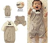 SOPO Baby Boys Formal Suit Wear Summer Baby Boys Gentlemen Romper 12-24m Beige
