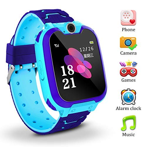 Kids Smart Watch for Children Girls Boys Digital Watch with Anti-Lost SOS Button GPS Tracker Smartwatch Great Gift for Children Pedometer Smart Wrist ...