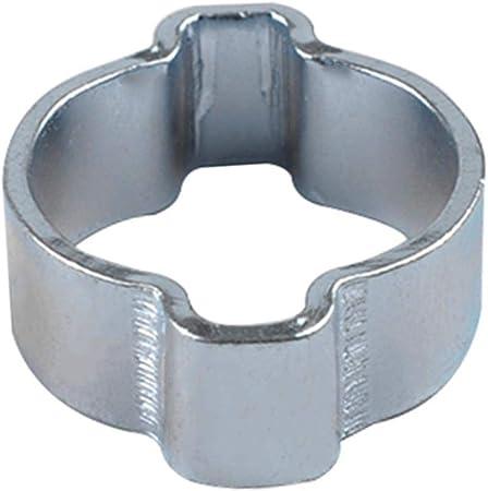 10pcs Colliers de Serrage Double Oreille Tuankayuk Tuyau de Carburant et deau Pince /à Sertir en Acier au Carbone 11-13MM