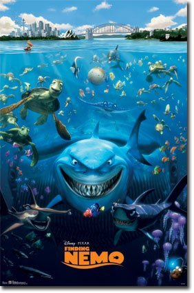 Click for larger image of Finding Nemo Movie Poster Print