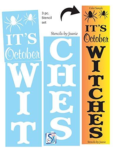 Halloween Sign Stencils (Joanie 3pc 6