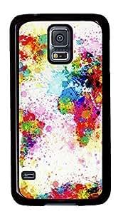 Diy Fashion Case for Samsung Galaxy S5,Black Plastic Case Shell for Samsung Galaxy S5 i9600 with Colorful Sspeckle Kimberly Kurzendoerfer