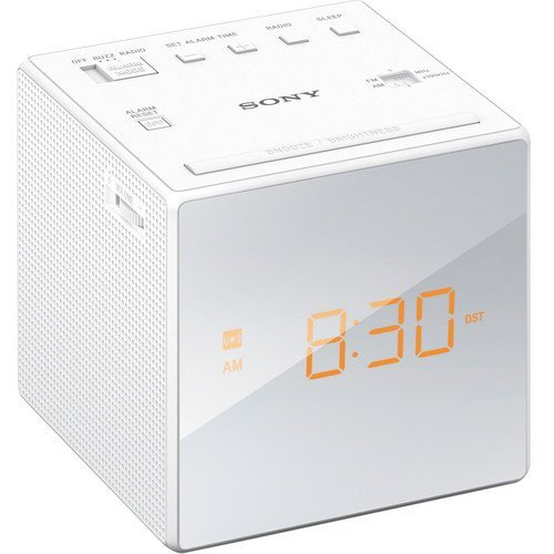 Sony Compact AM/FM Alarm Clock Radio with Large Easy to Read Backlit LCD Display (Sony Dual Alarm Clock)