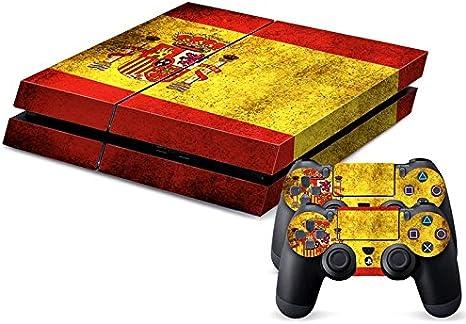 Lámina con bandera de España diseño retro para consola PlayStation ...