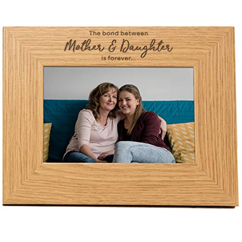 Mum and Daughter Photo Frame - Gift for Mum from Daughter - Presents for Mothers Day - 'The Bond Between Mother and Daughter is Forever' - Mum Picture Frame