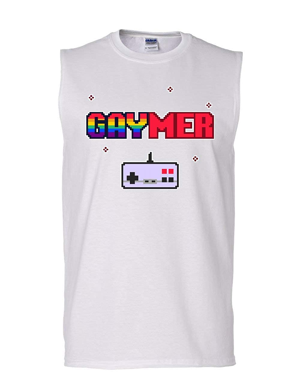 Gaymer Muscle Shirt LGBT Queer Rainbow Gay Gaming Console Controller Sleeveless