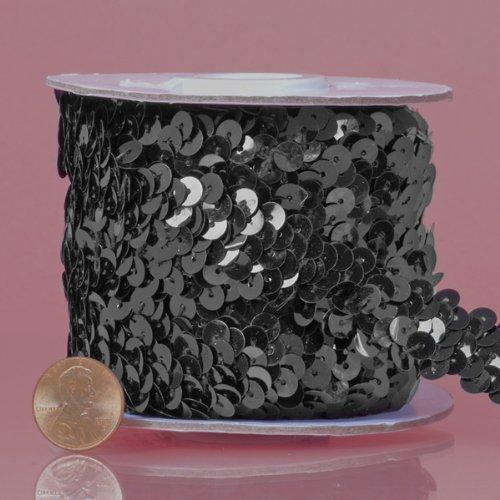 Black Stretch Sequin Trim, 10 Yd (Sequin Stretch Metallic Trim)