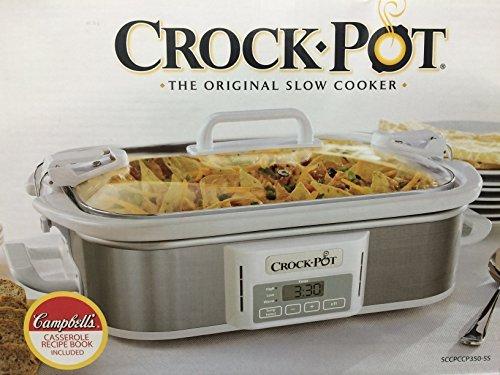 Crock-Pot Programmable Cook & Carry Casserole Crock Slow Cooker