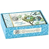 Michel Design Works 14 Count Boxed Thank You Notes, Bird Nest