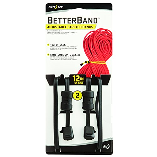 Nite Ize BetterBand, Adjustable Stretch Band with Cord Lock, 12-Inch, Black