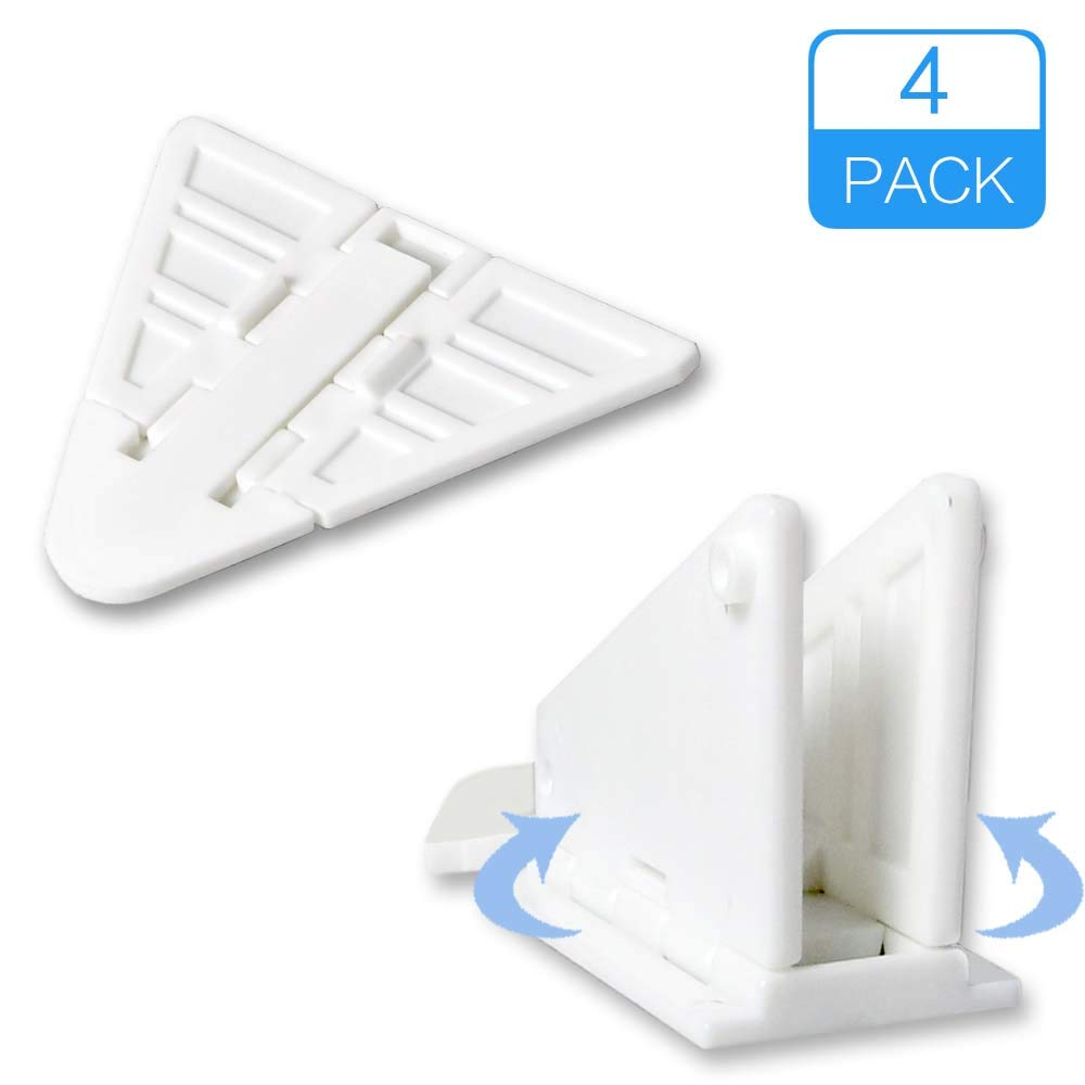 Luckypeople sliding door lock Safety Sliding Door Window Locks for Baby, Child, Adhesive Sliding Door Lock, No Tools Install needed, 4 Pack White