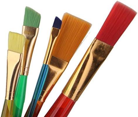 Myoffice ペイント 図画 画材 ナイロン 子供 絵画 用 水彩筆 絵筆 画筆 ブラシ 贈り物 5本セット