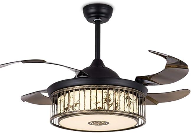 Ventilador de Techo con lámpara, Nuevo Chino Techo Luz Ventilador ...