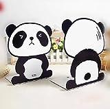 1 Pair The Cute Panda penguin art bookends bookend
