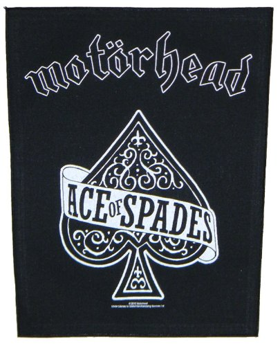 Music Spade (XLG Motorhead Ace Of Spades Woven Metal Music Band Back Jacket Applique Patch)