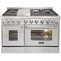 Kucht KRD486F Professional 48 6.7 cu. ft. Dual Fuel Range for Natural Gas, Stainless-Steel