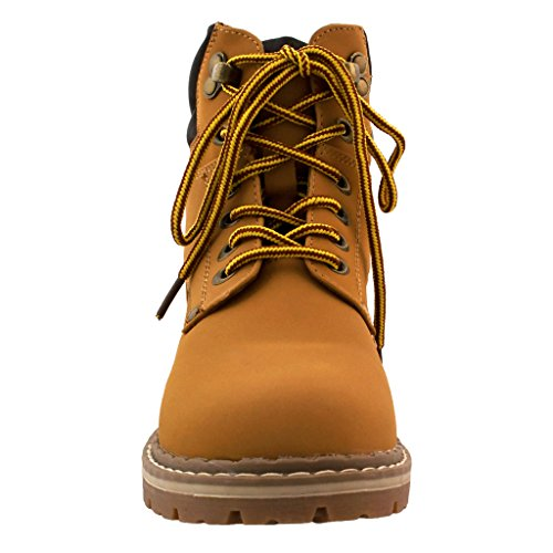 Padded Camel 5 Top Lace Up Shoes Women's Combat Hiking Ankle Cuff Work Short High Boot tqpOAn
