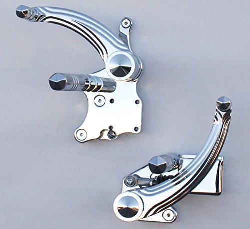 Accutronix Diamond Forward Controls with Knurled Diamond Pegs FC106-SZC (Forward Controls Diamond)