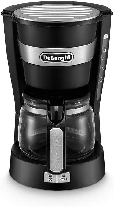 DeLonghi ICM 14011 Cafetera Semi-automática, Independiente, Goteo, de café molido, café, 650 W, 0,65 L, acero inoxidable, Negro: Amazon.es: Hogar