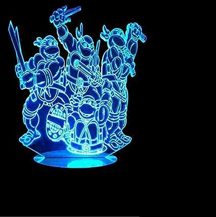 Amazon.com: kkkmb Stereo 3D Lamp Ninja Turtle Q Version ...