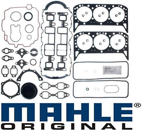 Marine Engine Gaskets - Mercruiser 4.3L 262 cid Chevy 1 Pc seal MARINE Full Gasket Set Head+Manifold+Oil Pan Vortec (4.3L 263cid)