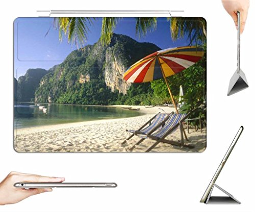 iPad Air 2 Case + Transparent Back Cover - Phuket Thailand - [Auto Wake/Sleep Function] [Ultra Slim] [Light Weight] (Phuket Air)