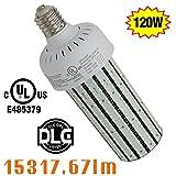 NGTlight 400Watt Metal Halide Equivalent 120W LED Corn Bulb High Bay Parking Lot Light Retrofit E39 Mogul Base 6000K(Daylight) AC100-277V