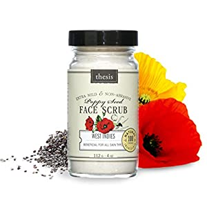 Organic Facial Scrub - Mild Chemical Free - Poppy and Spices by Antho Organic