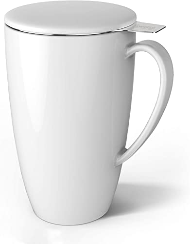 Sweese 201.101 Porcelain Tea Mug with Lid and Infuser