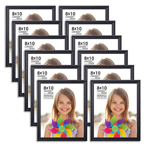- Langdons 8x10 Picture Frames (12 Pack, Black) Black Picture Frame Set, Wall Mount or Table Top, Set of 12 Prosperity Collection