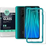 Ibywind Screen Protector for Redmi Note 8 Pro [Pack of 2] with Camera Lens Tempered Glass Protector,Back Carbon Fiber Skin Protector,Including Easy Install Kit