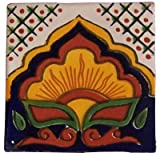 12 Hand Painted Talavera Mexican Tiles 4''x4'' Spanish Influence