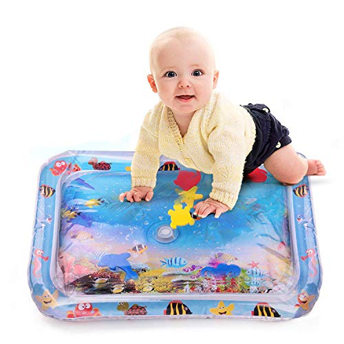 Ganxi Inflatable Tummy Time Premium Water mat Infants & Toddlers is The Perfect Fun time Play Activity Center Your Babys Stimulation Growth