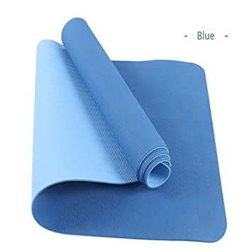 LMSHM Yoga Mat 6Mm Antideslizante Estera De Yoga TPE Deporte ...