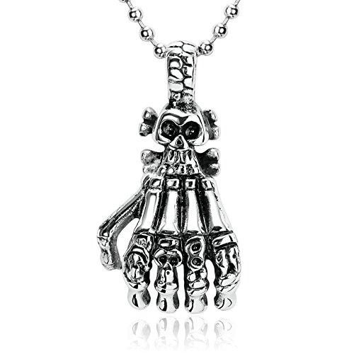Beydodo Stainless Steel Necklace for Men Pendant Men