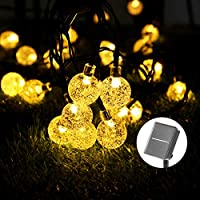 Catena Luminosa Solare - 40 LED 8M/26.3FT Luci Decorative Stringa Solari Impermeabile Esterno Illuminazione Luce Solare a...