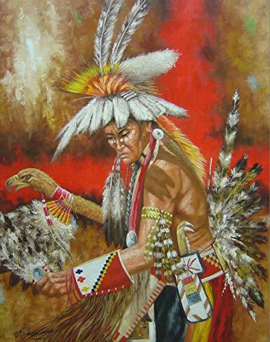 - 11 x 14 Inch Puzzle Hopi Spirit Dancer Native American Indian Art by Jeroen Vogtschmidt