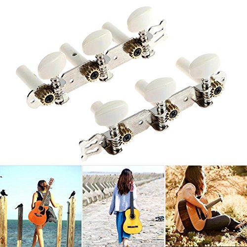Wall of Dragon Lot Square Heads Plastic Knob Guitar String Tuning Pegs Machine Head Tuners Keys Parts For bass Acoustic Guitar Accessories