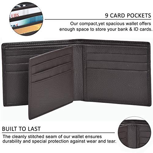 Designer Wallets for Men Real Leather Minimalist Deisgn Front Pocket RFID Wallet
