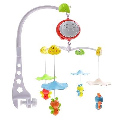 Juguete Campana de Cama Nursery Móvil Giratorio Musical Cuna de Abeja Bebés Niños: Juguetes y juegos