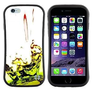 "Hypernova Slim Fit Dual Barniz Protector Caso Case Funda Para Apple (4.7 inches!!!) iPhone 6 / 6S (4.7 INCH) [Caída Ripple Lime Green White""]"