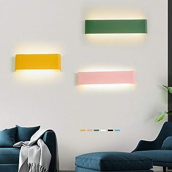 GYBYB Lámparas de pared largas simples y modernas Luz de pared led escalera iluminación lámpara de salón lámpara de noche lámpara de pared baño espejo luz @ 36W100cm_WarmWhite_White: Amazon.es: Iluminación