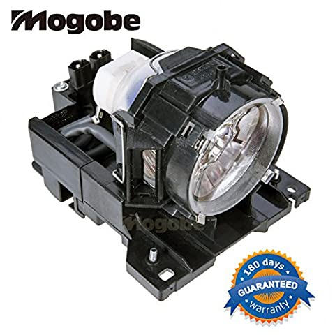 Mogobe DT00771 Compatible Projector Lamp with Housing for Hitachi Cp-X505 Cp-X600 Cp-X605 Cp-X608 (Replacement Lamp Hitachi Dt00771)