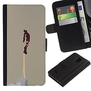 """A-type (Hierro Superhero"""") Colorida Impresión Funda Cuero Monedero Caja Bolsa Cubierta Caja Piel Card Slots Para Samsung Galaxy S5 Mini (Not S5), SM-G800"""