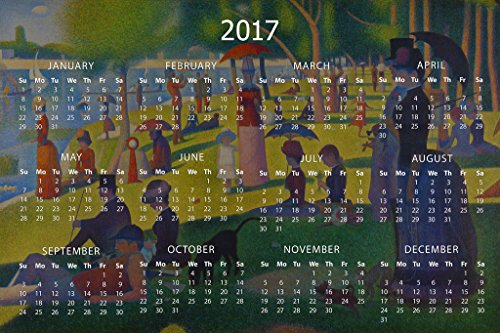 Georges Seurat Sunday Afternoon La Grande Jatte Art 2017 Calendar 12x18 Georges Seurat La Grande