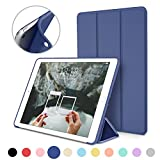 iPad Mini Case for iPad Mini 3 / 2 / 1, DTTO Ultra Slim Lightweight Smart Case Trifold Cover Stand with Flexible Soft TPU Back Cover for iPad Apple Mini, Mini 2 , Mini 3 [Auto Sleep/Wake],NavyBlue