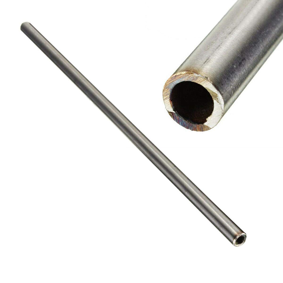 1pc OD 12mm x10mm ID 250mm Length 304 Stainless Steel Capillary Tube Pipe Silver