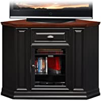 Leick Furniture 46 Corner TV Stand in a Black and Cherry Finish